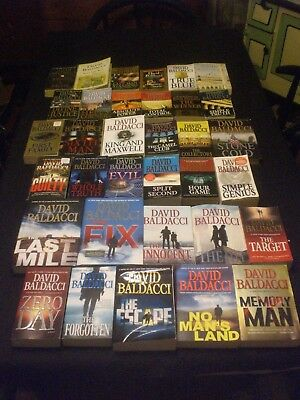 36 DAVID BALDACCI novels ALL SERIES mixed lot END GAME + LONG ROAD TO MERCY