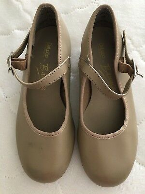DeLuco Performance by Baum's Girls Size 10 1/2 Tan Tap Shoes