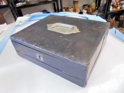 Victorian Leather Covered Traveling Writing Box / Slope From House Clearance