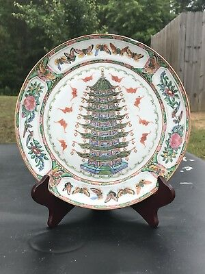19th Century Antique Chinese Export Famille Rose Porcelain  Plate