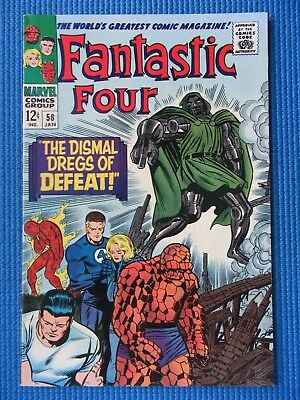 Fantastic Four # 58 - (Nm+) -High Grade -  Doctor Doom - The Dregs Of Defeat
