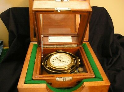 Hamilton Chronometer, Size 35 Navigation watch.  Model 22, 21 Jewels