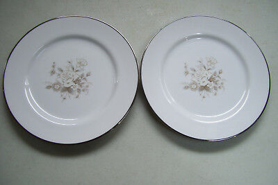 "Rare Vintage Linden Fine China Japan Set Of 2 Hand Painted 7 1/2""  Plates"