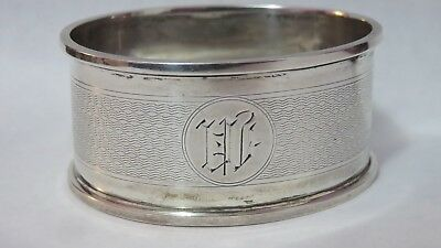 Antique Chester England Sterling Silver Oval Napkin Ring