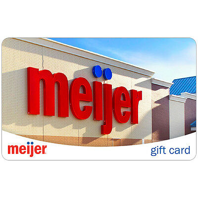 $100 Meijer Physical Gift Card For Only $94!! - FREE 1st Class Mail Delivery