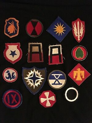 WW2 US Military Patch LOT of 15 Army Infantry patches Indian Propeller Sword