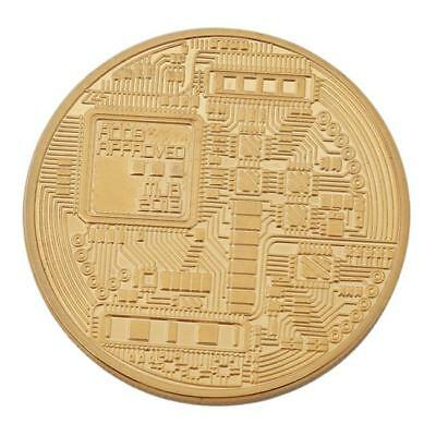 Gold Plated Bitcoin Coin Collectible Gift BTC Coin Art Collection Physical LG