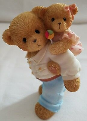 Cherished Teddies Beary Figurine A Father's Love Never Lets You Down 4001900 NIB