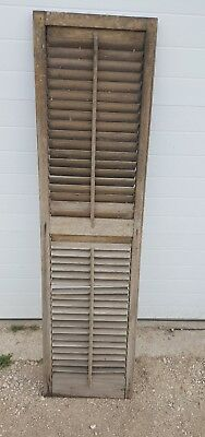 Vintage Antique Wood House 1 Shutter Louvered Old Farmhouse 16x63 wedding decor