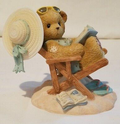 Cherished Teddies Bear Figurine Dottie Soak Up The Sun Have Some Fun NIB