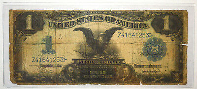 """CIRCULATED SERIES 1899 $1 """"BLACK EAGLE"""" LARGE SIZE SILVER CERTIFICATE .99c START"""