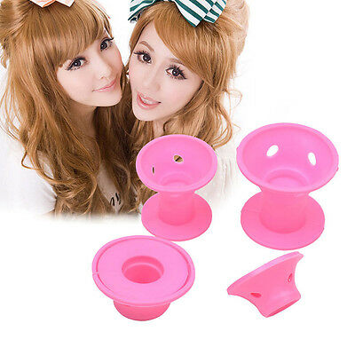 10pcs Silicone No Clip Hair Curlers Rollers Hair Styling Hairdressing DIY.US