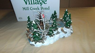 Dept. 56 Christmas In The City 52651 Mill Creek Pond In Original Box