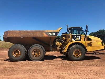 2012 Caterpillar 740B Articulated Dump Truck Rock Off-Highway Diesel Cab AC Cat