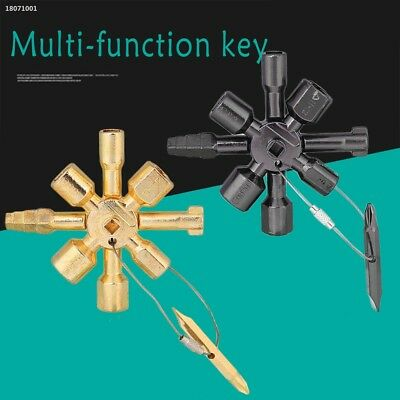 10in1 Multifunction Cross Switch Plumber Key Wrench Universal Square Tools CB3C