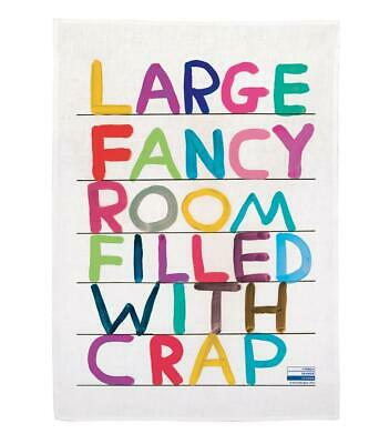 Third Drawer Down X David Shrigley, Fancy Room Tea Towel