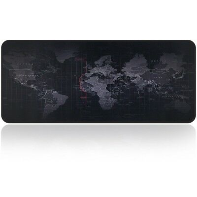 Large Gaming Mouse Map Pad XXL Size Desk Keyboard Thick Mat Non Slip Waterproof