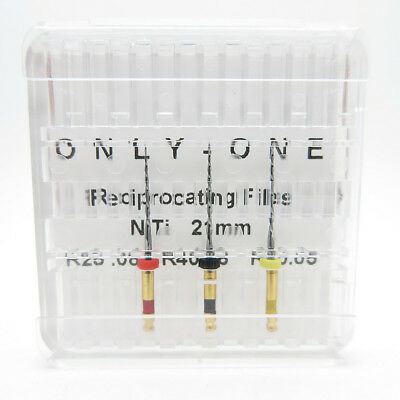 ONLY-ONE Reciprocating NiTi R25 R40 R50 Dental Endo Root Canal Rotary Files
