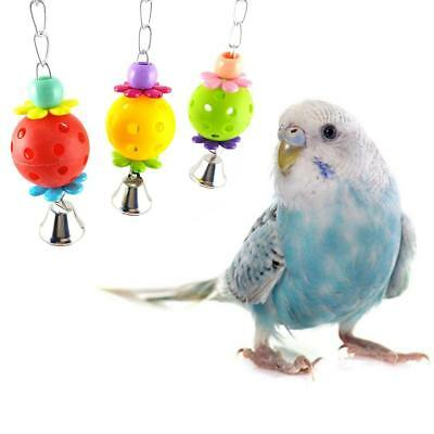 Bird Budgie Parakeet Cockatiel Cage Interactive Mirror Bell Activity Play Toys<