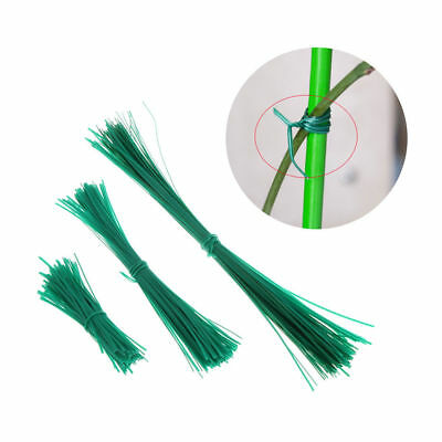100Pcs Garden Coated Twist Wire String Tie Plant Support Plastic Strap Cables