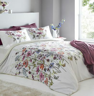 Bright Traditional Country Floral Cassandra Multicolour Double Duvet Cover Set
