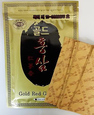 (100 Pads) Gold Red Ginseng Hot Pack Pad Patch Sheet Tape Pain Relief Korea