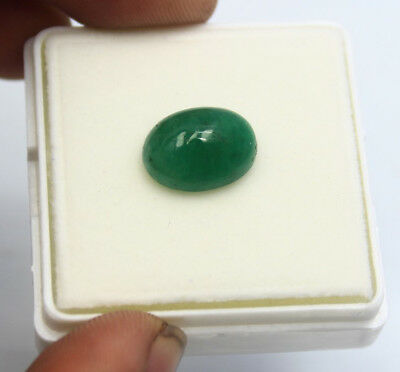 6.60Ct EGL Certified Natural Magnificent Cabochon Green Emerald Gemstone AW2506