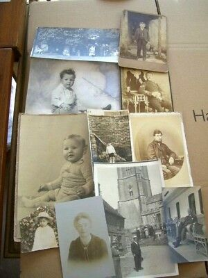 Antique Vintage Photographs Military- family- Kids- Job Lot Of 11 Good Condition
