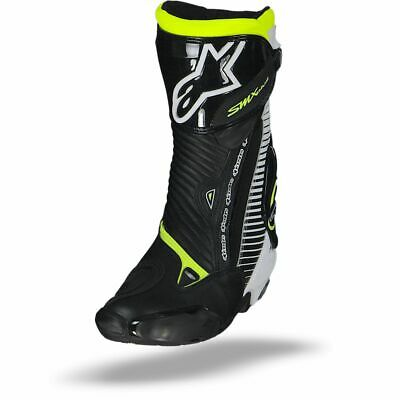 Alpinestars Smx Plus Black White Yellow Fluo Motorcycle Boots - Free Shipping!