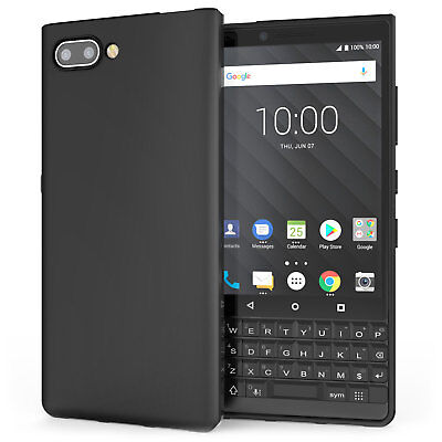 Blackberry Key2 Case, Silicone Ultra Soft Gel Best Phone Cover - Matte Black