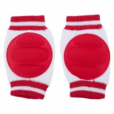 Kids Baby Knee Pads Toddler Elbow Protective Crawling Safety Protector (Red) BC7