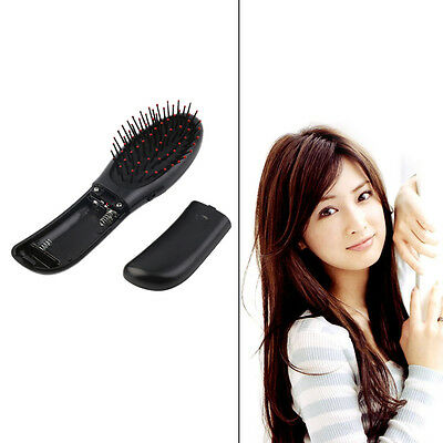 Portable Electric Head Hair Scalp Stress Relax Vibrating Massager Comb Brush ~~