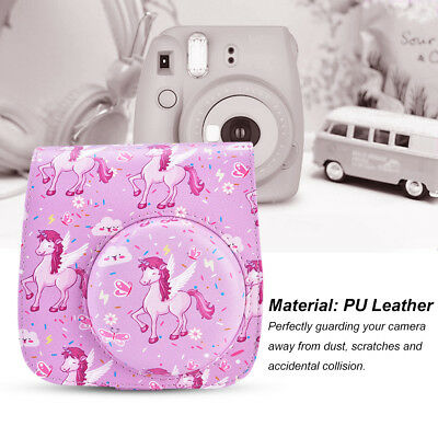 PU Leather Pink Carrying Camera Bag Travel Case for Fujifilm Instax Mini 8/8+/9