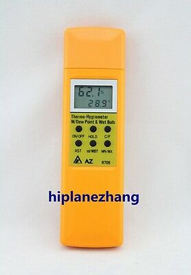 Handheld Temperature Humidity Dew Point Wet Bulb 4in1 Meter Hygrometer Test 8705