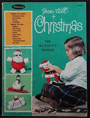 Vintage Paper Dolls: REDUCED Fun till Christmas 192 Activity Pages 1965
