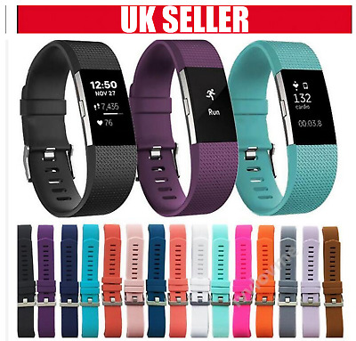 PREMIUM Replacement Strap For FitBit Charge 2 Soft Silicone Spare Band Wristband