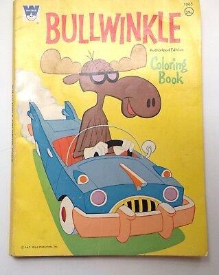 Rare Bullwinkle Coloring Book Whitman 1960 Nice Condition Vintage Collectible