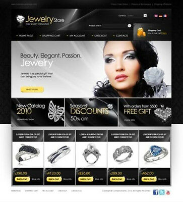 Jewellery eCommerce Store Website Business For Sale. 1-Click Install.
