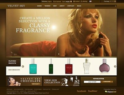 Fragrance eCommerce Store Website Business For Sale. 1-Click Install.
