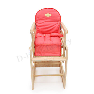 Cushion+ Adjustable Foldable Baby Highchair Toddler Eating Feed Seat Durable 22""