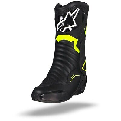 Alpinestars Smx-6 V2 Motorcycle Boots Black Yellow Fluo - New! Free Shipping!