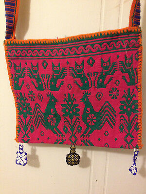 Old Huichol double-woven bag from Mexico
