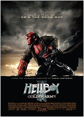 Hellboy 2 Golden Army Classic Movie Poster Art Print A0 A1 A2 A3 A4 Maxi