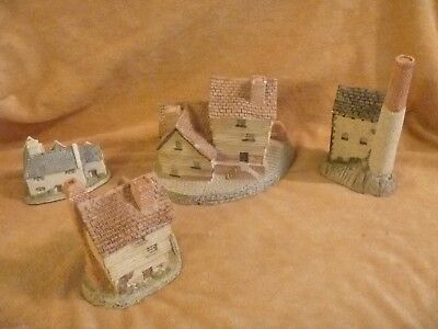4 Buildings by David Winter Hand Made Hand Painted Hampshire, Great Britain
