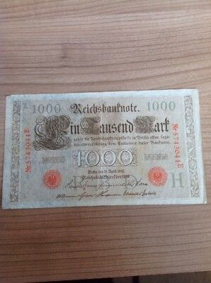 1000 Mark 1910 Reichsbanknote