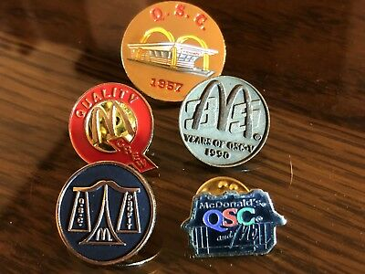 5 McDonald's QSC Collector Pins
