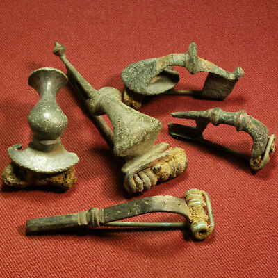 Lot of 5 Roman and Celtic Brooch / Fibula