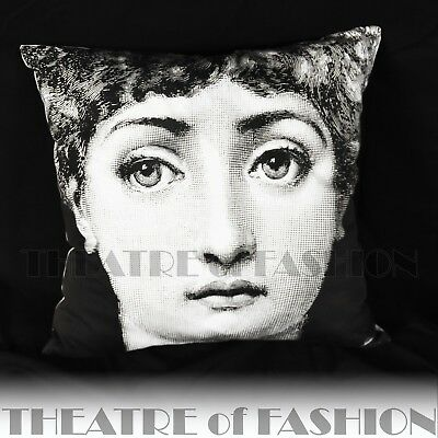 Fornasetti Cushion Vintage Pillow Bolster Urban Art Home Fashionista Iconic Rare