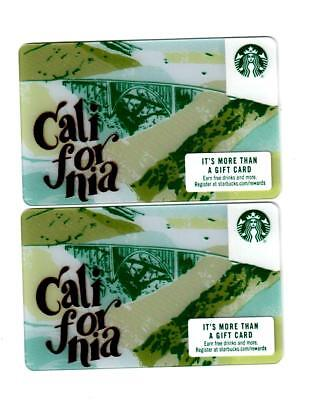 (2) 2018 Starbucks California Cards Mint USA rare lot of 2 NEW