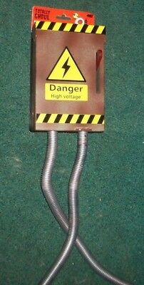 halloween animated danger high voltage electic fuse wires box lighted prop